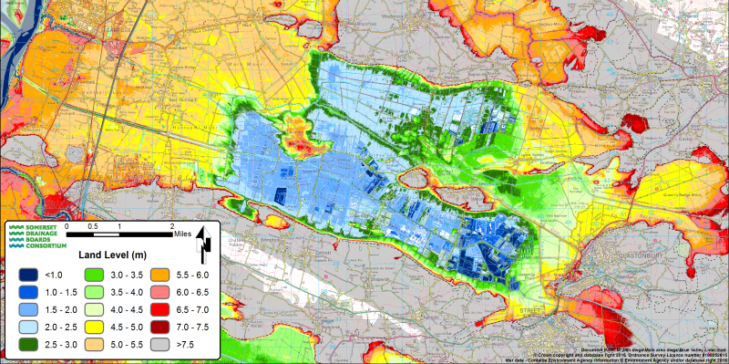 Lidar map of the Avalon Marshes