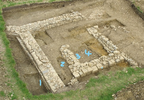 Beckery Chapel dig - Aerial view