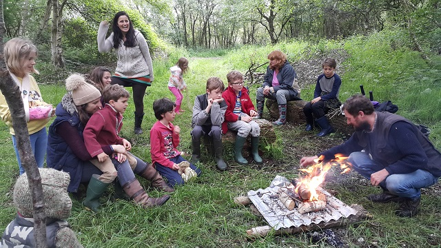 Forest School campfire