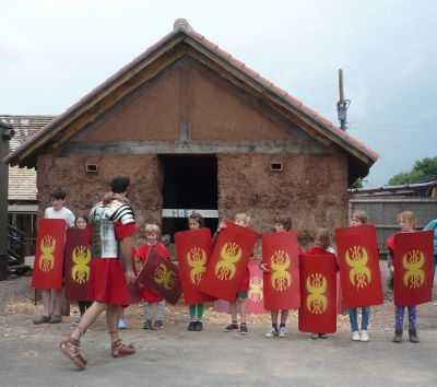 Children dressed as Romans