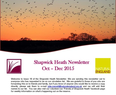 Shapwick Heath Newsletter