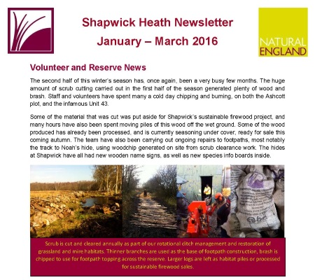 Shapwick Heath Newsletter issue 20
